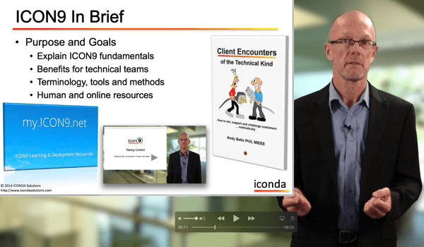 ICONDA offers Technical Training and Sales Support including Customer Facing Marketing Materials using ICON9